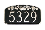 Maple Leaf Address Plaque Wall