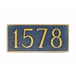 Rectangle Address Plaque Petite 7.75 Inches