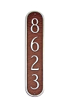 Oblong Vertical Address Plaque