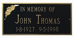 Memorial Plaque Rectangular Large 3 Lines