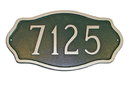 Hamptons Estate Address Plaque