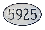 Oval Address Plaque Standard