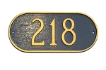 Oblong Address Plaque Wall