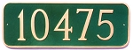 Curved Rectangle Address Plaque