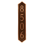 Piedmont Vertical Address Plaque