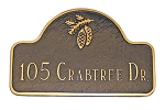 Pinecone Arch Address Plaque
