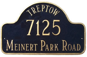 Arch Estate Address Plaque with Name