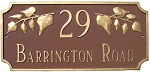 Camden Ivy Address Plaque