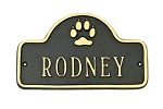 Dog Name Plaque