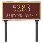 Harrison 2 Line Lawn Address Plaque