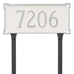New Yorker 1 Line Estate Lawn Address Plaque