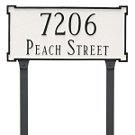 New Yorker 2 Line Lawn Address Plaque