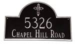 Arch Ornate Cross Address Plaque