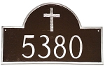 Arch Rugged Cross Address Plaque