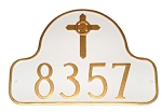 Arch Address Plaque With Celtic Cross