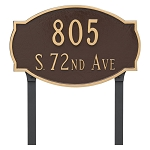 Cambridge 2 Line Lawn Address Plaque