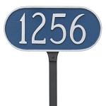 Oval Small Lawn Address Plaque