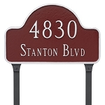 Lexington Arch Address Plaque Large Lawn