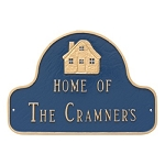 Home of Family Name Wall Plaque