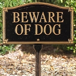 Beware of Dog Sign Arch