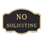 No Soliciting Metal Sign Sign Princeton