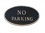 No Parking Oval Sign