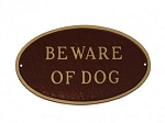 Beware of Dog Sign Oval