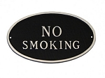 No Smoking Oval Sign
