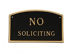 No Soliciting Arch Sign