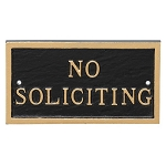 No Soliciting Metal Sign Sign Rectangular