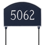 Two-Sided Prestige Arch Address Plaque Lawn 1 Line