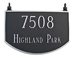 Two-Sided Prestige Arch Address Plaque Hanging