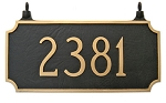 Princeton Two-Sided Hanging Address Plaque