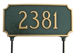 Two-Sided Princeton Address Plaque Lawn 1 line