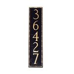 Lincoln Vertical Address Plaque