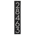 Modern 3 Inch Number Address Plaques Vertical