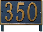 Rectangle Address Plaque for Yard