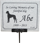 Pet Memorial Plaque with Stake, Stone Look