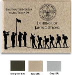 Scouting Plaque, Stone Look, Lawn & Wall