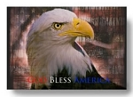 Personalized Glass Tray with American Eagle