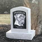 Grave Marker with Photo for Pet