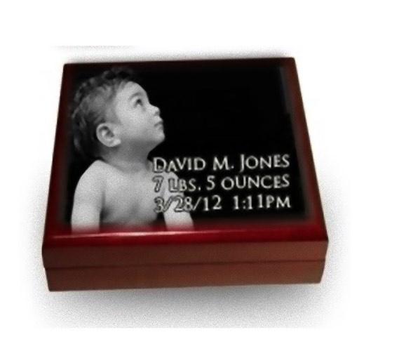 Photo Keepsake Box For Children Piano Finish