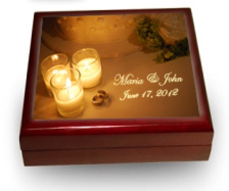 Personalized Wedding Memories Keepsake Box