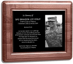 Military Photo Etched in Marble with Frame 7 x 9