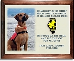 Pet Memorial On Color Ceramic Tile With Wood Frame