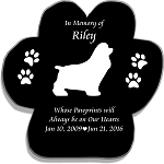 Pet Memorial Paw Print with Silhouette