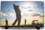 Full Color Photo on Slate , Golf