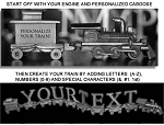 Pewter Trains - Personalized