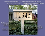 Solar LAWN Address Plaque White