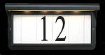 Solar Address Plaque Black